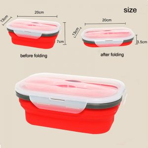 koohplus silicone folding lunch box